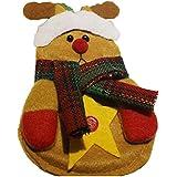 4cb3e305c MoGist Cubiertos Navidad Bolsillos Nette Caricatura Navidad muñecas Forma  Plana Cubiertos y Bolsa de Accesorios para