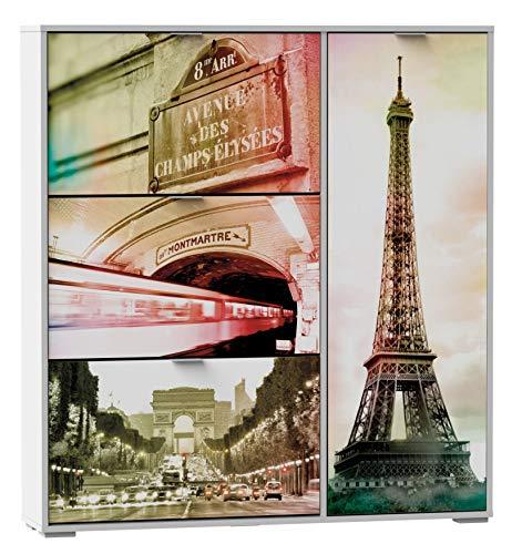 SZ Suarez Armario Zapatero 4 Puertas Paris Original habitacion recibidor Pasillo Estilo Moderno Botas...