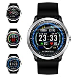 Fitness Tracker, Smartwatch Android iOS Smart Watch Fitness Intelligente Uomo Donna Bluetooth Sport Pedometro Cardiofrequenzimetro 1,22 pollice Colori Impermeabile IP68