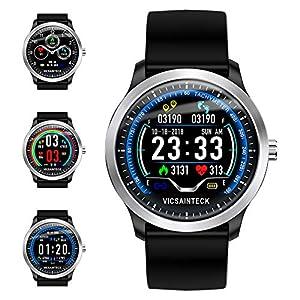 Reloj Inteligente, Smartwatch con Pulsómetro Pulsera Actividad Multifuncion