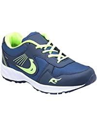 CF_Better Deals Mens Synthetic Mesh Navy Green Coloured Sports Shoe| Running Shoes| Pro Running Shoes| Sprint... - B076CP2TCQ