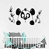 ONETOTOP Oso Panda Pegatinas de Pared Extraíbles para Vivero Niños Dormitorio Sala de Juegos de Vinilo Calcomanías Impermeables Sala de Estar Decoración de Arte 46 * 84 cm