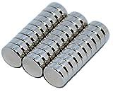 KMS-Products NEODYM Magnete sehr stark, 30 Stück rund 9x3 mm, extrem kräftige Mini Super-Magneten für Kühlschrank, White-Board, Glas-Magnettafel und basteln, extra beschichtet, Kleine Kraftwunder