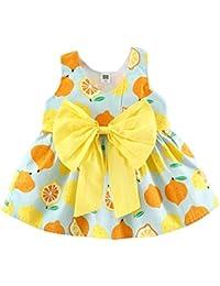 Vestido Para Bebé NiñAs DRESS Start® Vestido Linda ImpresióN De Frutas LimóN Sin Mangas Vestido