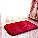 YOKIRIN® Weich Plüsch Teppich Stopp Antirutschmatte Teppichunterlage Absorbieren Wasser 60X40-Rote