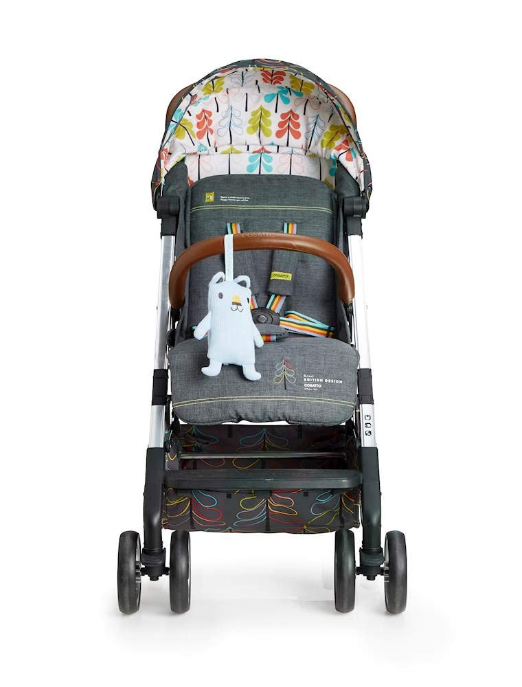 Cosatto Woosh XL Pushchair, Suitable from Birth to 25 kg, Nordik Cosatto Compact from-birth pushchair. carries up to 25kg child, so you can use it for longer. Hands full? it's lightweight with one-hand fold into compact bundle. easy to store. It can even carry dock 0+ car seat (sold sep) just pop onto the adaptors (sold sep). 6