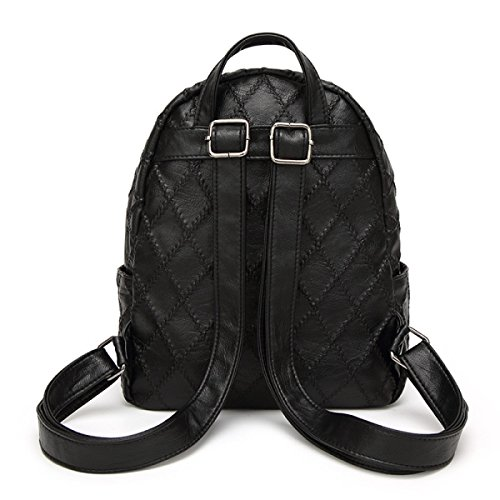 Frauen Spiraea Lingge Umhängetasche Mode Student Tasche Reisetasche Black