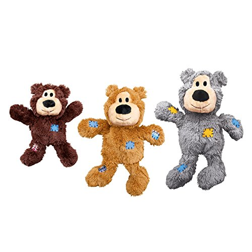 KONG Wild Knots Bear Dog Toy, Medium/Large Colours Vary