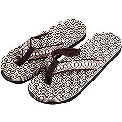 Chanclas Hombres Xinantime Zapatos de Hombre Sandalias de Verano Cómodas Chanclas de Masaje Zapatilla Masculina Chanclas Interiores y Exteriores (44, Marrón)