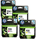 HP 934XL High Yield/935 Standard Yield Ink Cartridges - Black/Cyan/Magenta/Yellow