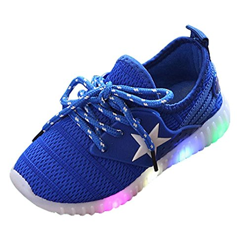 Sisit Baby Shoes Light Toddler Baby Boy Girl Sneakers Star Luminous Child Casual Colorful Light Shoes Baby Shoes Light (22, Blau)
