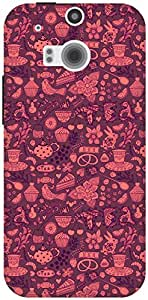The Racoon Grip Chai the Tea Pink hard plastic printed back case / cover for HTC One (M8)