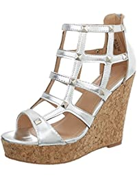 be9a8ff0 Ital-Design Zapatos para Mujer Sandalias de Vestir Plataforma Sandalias de  Cuña