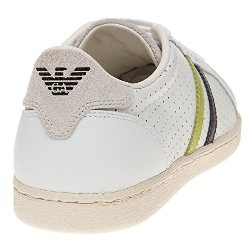 Armani Jeans Low Cup Sole Ii Homme Baskets Mode Blanc white