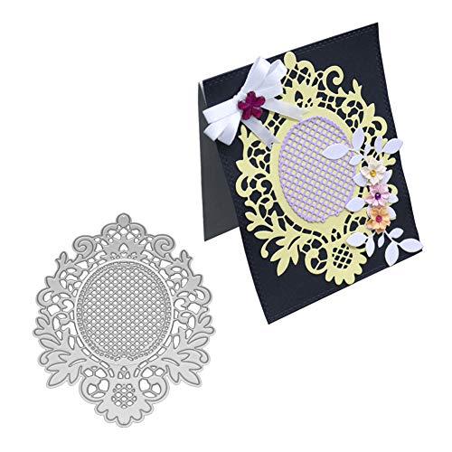 Gemini_mall® Stanzformen für Kartenherstellung, Spiegel-Metall-Stanzformen DIY Scrapbooking Prägung Papier Karten Schablone Schablone für Grußkarten Einladungskarten Dekoration silber