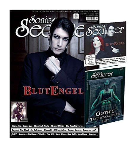 Sonic Seducer 02-2017 mit Blutengel Titelstory (10 Seiten) + Gothic Taschenkalender 2017 (insg. 336 Seiten) + CD, Bands: Front 242, In Extremo, Nine Inch Nails u.v.m.
