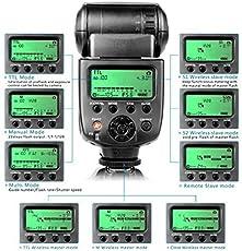 CameraPlus® CPN580TTL Master i-TTL Flash per Nikon fotocamera reflex digitale - GN58 (ISO 100, 105mm) Compatibile con reflex Nikon: D3000, D5000, D3100, D5100, D3200, D3300, D5200, D5300, D7000, D7100, D50, D60, D70, D70S, D80, D90, D200, D300, D300S, D600, D700, D800, D3S)