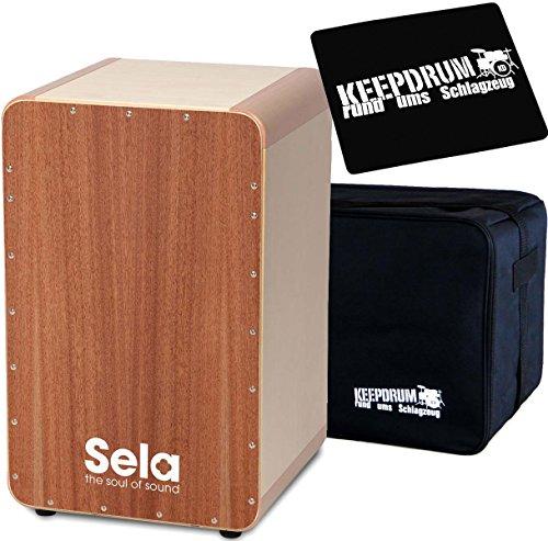Sela SE037 Cajon Schnell-Bausatz + keepdrum Tasche + Sitzpad