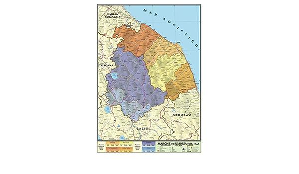 Cartina Geografica Umbria Marche.Carta Geografica Murale Regionale Marche Umbria 100x140 Bifacciale Fisica E Politica Amazon It Cancelleria E Prodotti Per Ufficio