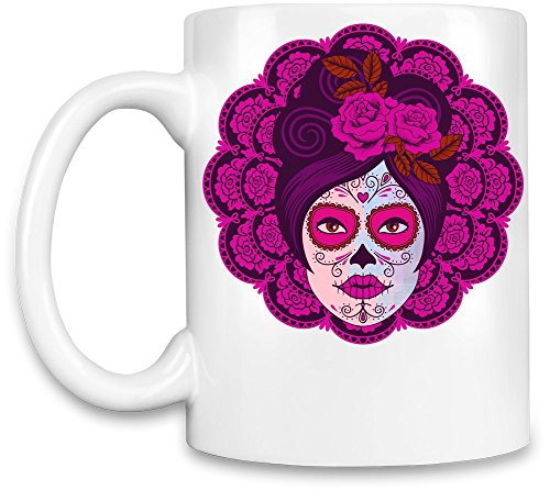 Kaffee Becher (Sugar Skull Girl Halloween)
