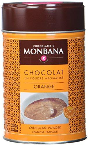 Monbana Schokoladenpulver Orange 250g Dose (mind. 32% Kakao), 1er Pack (1 x 250 g) (Dunkle Schokolade Mit Orange)