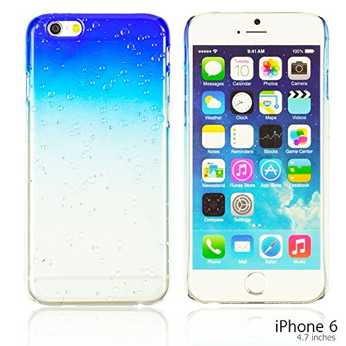 OBiDi - Transparent Gradient Water Drop Design Hard Back Case / Housse pour Apple iPhone 6 / 6S (4.7 inch)Smartphone - Blanc Bleu