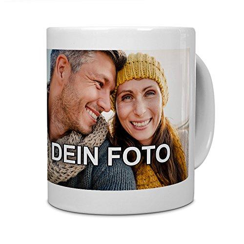 PhotoFancy Tasse mit Foto bedrucken lassen - Fototasse personalisieren - Kaffeebecher zum selbst gestalten (Weiß)