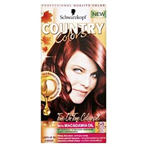 Schwarzkopf Country Colors 58 Grand Canyon ( Pack of 3)