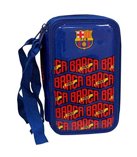 FC Barcelona PLUMIER 3 Pisos con Material Escolar
