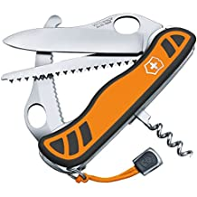 Victorinox Taschenmesser Hunter XT Grip (6 Funktionen, Feststellbare Waidklinge, Kordel) orange/schwarz