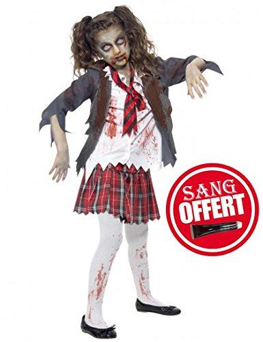 Zombie-School-Girl-Halloween-Enfants-Costume-de-dguisement