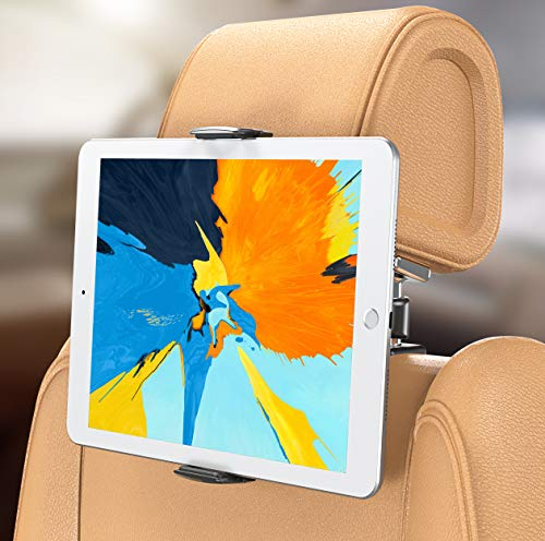 Bovon Support Tablette Voiture, Support Appuie-tête de Voiture, Universel Extensible 360° Rotation Porte Tablette Voiture pour 5.5-13 Pouces Tablette & Smartphone, iPad Air/Pro, iPhone XS Max/XR