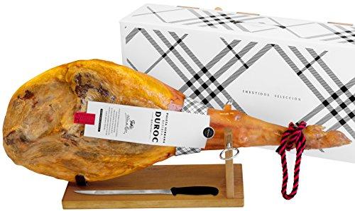 Prosciutto spagnolo serrano (spalla) riserva + porta prosciutto + coltello 4.5 - 5 kg | jamon serrano crudo