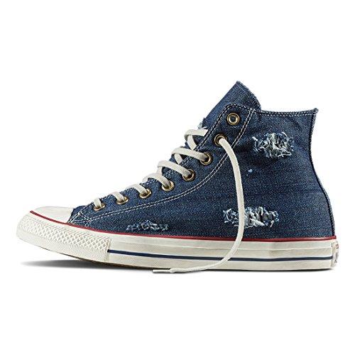 CONVERSE 156738C Blue Jeans Turnschuhschuhe hohe Leinwand Schnürsenkel 38 (All Denim Star)