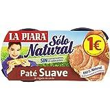 La Piara Sólo Natural Paté Suave de Hígado de Cerdo - Pack de 2 x 75 g - Total: 150 g