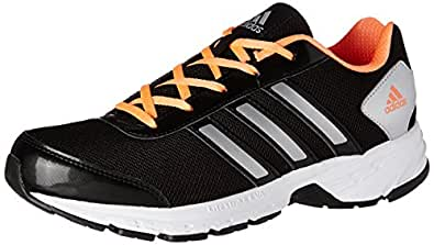 adidas Women's Adisonic W Black, Grey and Orange Mesh Running Shoes - 8 UK