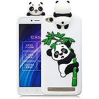 Funda xiaomi redmi 4A Silicona Funda xiaomi redmi 4A Panda 3D Leton Suave Flexible TPU Móvil
