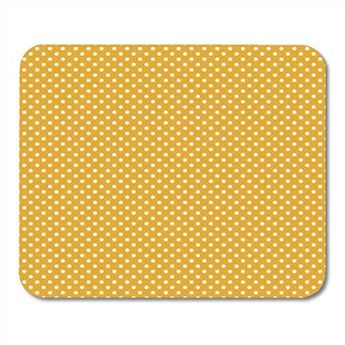 Cottage Creme (Luancrop Mauspads Gelb Senf Gold Creme Polka Dot Muster Polkadot Chic Cottage Mousepad für Laptop, Desktop-Computer Zubehör Mini Office Supplies Mauspads)
