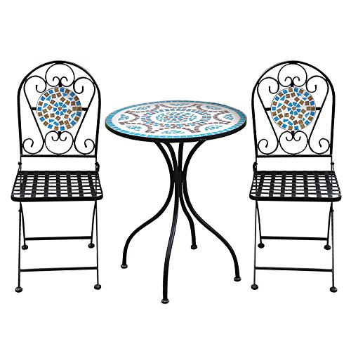 Robert Dyas Metal Mosaic 2-Seater Bistro Set