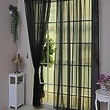 Vorhänge, OVERMAL 1 PCS reine Farbe Tüll Tür Fenster Vorhänge Drapieren Platte schiere Schal Valances (100 x 200 cm, Dunkelgrün)