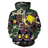 Cowesoo Männer/Frauen 3D-Hoodies Cartoon mit Kapuze Sweatshirts Camouflage Trainingsanzug