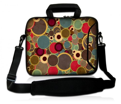 Sidorenko Notebooktasche mit Zubehörfach und Schultergurt für Größe 41,5 cm x 31 cm Laptops ( 17 - 17,3 Zoll ) neopren / Hülle / Laptop-Tasche / Computer-Tasche / Netbook-Tasche / Ultrabook-Tasche / Schutz-hülle