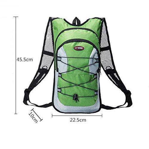 Escursione dello zaino Sport Outdoor Camping Rucksack Vacanza impermeabile del computer portatile bagagli Bagagli di bicicletta alpinismo , Black Green