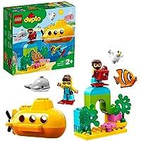 LEGO 10910 DUPLO Town U-Boot-Abenteuer, Badespielzeug, Luftblasen, Bauset für Kinder im Alter von 2 Jahren
