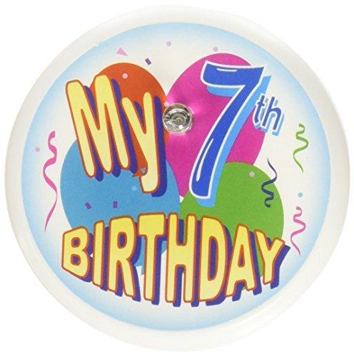 Beistle BL007Mein 7. Geburtstag Blink Button, 2Zoll -