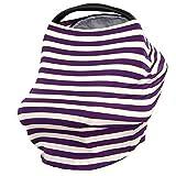 Mutter Stillen Still lila gestreift Schal Stillen abdeckt,