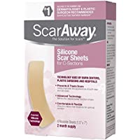 Scaraway C-Section Scar Treatment Strips, Silicone Adhesive Soft Fabric 4-Sheets - Narbenheilungspflaster für... preisvergleich bei billige-tabletten.eu