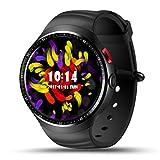 KingProst-Fitness Bluetooth Smartwatch Sport Uhr Unterstützt mit Sim-Karte & Kamera GPS Schrittzähler Remote Capture Anruf SMS Facebook Whatsapp Beachten für Android iOS (Schwarz)