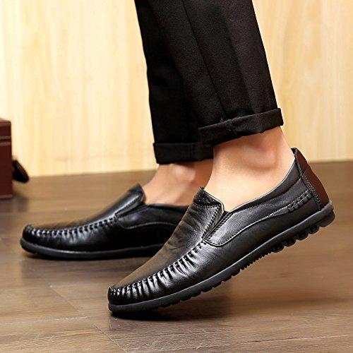 Doug Chaussures Correspondent Tous Pédale Paresseux Chaussures En Cuir Chaussures Tout Aller. Black