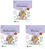 Pearson IIT Foundation Mathematics Class 10 by Pearson,Pearson IIT Foundation chemistry Class 10 by Pearson an